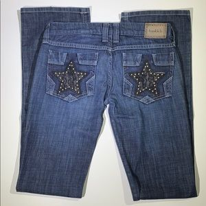 Frankie B. | Lace Star Studded Pocket Jeans